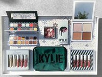 Wholesale Pre Set - Pre-sale!Kylie Holiday Collection 2017 Kylie Christmas Collection Set Naughty Nice Eyeshadow The Wet Set Velvet Liquid Lipsticks