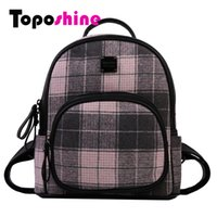 Zaino donna a righe in lana Toposhine Moda donna Zaini casual Inverno Nuovo arrivo Borsa morbida Lady Backpack 7107