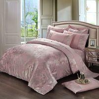 tierdruck flachblätter großhandel-Wholesale-Noble Bettwäsche Set 4pcs Baumwolle Luxus Bettbezug Bettdecke Bettdecken Bettdecken Bettdecke Bettdecke King Size HA042J