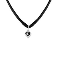ot fitness - For Wedding Party Gift Fitness Bodybuilding Jewelry Zinc Alloy Antique Silver Floating Engrave OT Heart Charm Chain Rope Pendant Necklaces