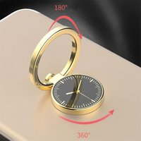 Wholesale Gold Finger Watch - phone grip Watch Finger Ring Holder Universal Mobile Phone Smartphone Watch Stander Finger Grip for iPhone samsung Luxury Couple Mode