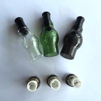 juego de bobinas para globo al por mayor-Vaso de cristal coloreado del vaporizador Pyrex Bombilla de vidrio Bombilla de cera del atomizador Set Pens- Se adapta a doble bobina de cuarzo de cerámica Donut Bobinas de cera