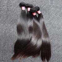 schiffshaarverlängerungen groihandel-Mongolisches gerades Haar 3pcs / lot spinnt natürliche schwarze Farbseidige gerade Menschenhaar-Erweiterungen Freies Verschiffen Bella Haar