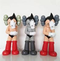 Wholesale Astro Boy Toys - 3pc Kaws Iron-Arm Atom Astro Boy Toy Anime Toys Original Fake Christmas Gifts Birthdays Toys Gloomy-Bear MoMo Bear POPOBE Qee Bearbrick