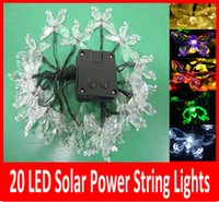 Wholesale Christmas Outdoor Lighting Sale - Hot Sale Free Shipping 4.8m 20 LED Solar String Lights multicolor Lamp Outdoor waterproof Garden rode building Xmas Decoration