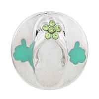 collares flip flop al por mayor-NSB2314 Botón de la joyería de la broche caliente de la venta para el collar de la pulsera 2015 joyería de la manera DIY Crystal Snaps Flip Flop botones