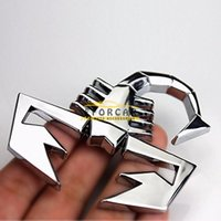 Wholesale Silver Animal Car Stickers - Metal 3D Scorpion Personalized Car Truck Emblem Badge Logo Sticker Silver