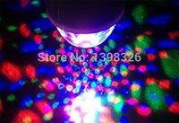 Gros-3W E27 LED RGB petit cristal Magic Ball gyrophare DJ Party étape Ampoule gyrophare Bar Décoration CE RoHS UL