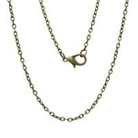 "Wholesale long bronze chain - Wholesale-Jewelry Necklace Antique Bronze Cable Chains Lobster Clasp 62cm(24 3 8"") long, 12 PCs 2015 new"