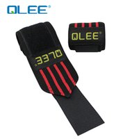 Wholesale Sports Safety Gloves - Wholesale-qlee weight training professional bodybuilding gloves wrist bandage bandage Sports Safety 1295