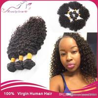 Wholesale Pop Virgin Hair - ali pop hair 3bundles malaysian curly virgin hair unprocessed human hair weave,cheap maylasian hair Natural black Color 3,4,5pcs lot