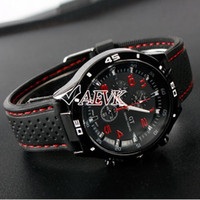 Wholesale Watch Rubber Wristbands - Wholesale-New 2014 Men Watches Top Brand Silicone Wristband Quartz Watches Casual Men Analog Sport Wristwatches Free Shipping #12 SV005018