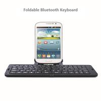 drahtlose tastatur für handy großhandel-Großhandels-Ultrathin Bluetooth faltbare Tastatur Keyboard Chiclet drahtlose Tastatur Mini-Tastatur für Handys Laptops