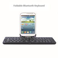 складная мини-клавиатура оптовых-Wholesale-Ultrathin Bluetooth Foldable Full-size Keyboard Chiclet Wireless Keyboards Mini Keyboard For Mobile Phones Laptops