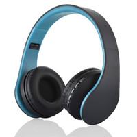 pc için bluetooth kulaklıklar toptan satış-Andoer LH-811 4 in 1 Bluetooth 3.0 + EDR Kulaklıklar MP3 Çalar FM radyo ile kablosuz kulaklık Akıllı Telefonlar için PC V126