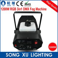 Wholesale Generator Products - Wholesale-4pcs lot 2015 New Product Fog Generator 1200W LED DMX Fog Machine Smoke Generator for Stage Equipment SX-FM1200