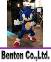 Wholesale Sonic Costume Adults - Free shipping the customized sonic Mascot Costume Fancy Dress adult one size LLFA3953F