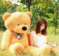 Wholesale Huge Giant Teddy Bears - 1pc 80CM 100cm Giant Big Plush Teddy Bear Valentines Day Brown Giant 100cm Cute Plush Teddy Bear Huge Soft TOY