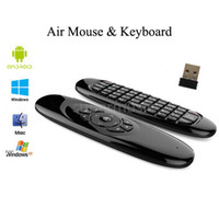 Gyroscope Fly Air Mouse 6 Aixs Sensor C120 Fernbedienung Mini 2.4Ghz Wireless Game Keyboard für X96 S905X S912 Smart TV Box