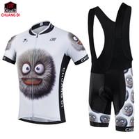 el bikes großhandel-Mann Lustige Karikatur Sport Radfahren Jersey Bike Kurzarm Sportbekleidung Neue Radsportbekleidung Trägerhose