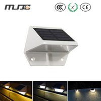 Wholesale Solar Lights For Steps - Outdoor Solar Powered LED Light Pathway Path Wall Step Stair Garden Lamp Light for outdoor lighting