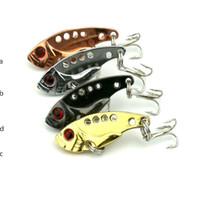 señuelos de pesca de agua dulce al por mayor-Pesca señuelo Blade Lure VIB Hard Bait Fresh Shallow Water Bass Walleye Crappie Minnow Fishing Tackle Envío gratis