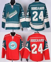 Wholesale Embroidery Factories - Factory Outlet, #24 Derek Boogaard Ice Hockey Jerseys Minnesota Wild Authentic Embroidery Stitched Ice Hockey Premier Jerseys Fast Shipping