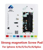 "Wholesale Magnetic Screws - Magnetic Anti loss Screw Memory Mat screws position memory pad For Iphone 4 4s 5 5s 5c 6 Plus 6s 4.7"" free shipping"