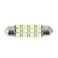 Wholesale Car Led Interior Lights 42mm - Car Dome 12 3528-SMD LED Bulb Light Interior Festoon Lamp 42mm White Hot New