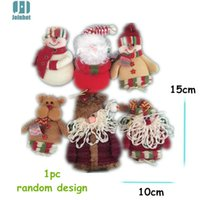 Al por mayor-1 PC nuevo Muñeco de nieve de Alta Calidad de Navidad Sentado Santa Claus Muñeca Figurita de Juguete Home Room familia Ornamento Decoración regalo de la decoración