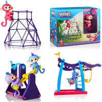 Wholesale Baby Toy Frame - 6 colors Fingerlings Monkey Fitness frame seesaw swing Baby Monkey Kids Toy Halloween Christmas Gift With Retail Box