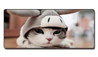 Wholesale Cartoon Rubber Mouse Pad - Speed Control Version Big eye cartoon cat Mouse Pad Non-slip Natural Rubber Cloth MousePad for girl for Home and Office for Starry sky