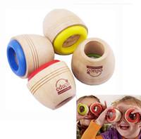 ingrosso giocattolo d'occhio dell'ape-Legno sveglio Kaleidoscope legno dei nuovi bambini di spedizione gratuita giocattolo magico Bee effetto occhi per i bambini regalo di compleanno