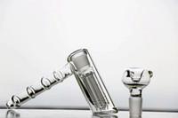 18.8 mm cam köpürtücü perk toptan satış-2 stil Gerçek Cam Bongs Su Boruları çekiç 6 Kol percolator perbblator fıskiye Dab Kuleleri Cam Bongs su boruları ortak 18.8mm nargile