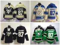 Wholesale Embroidery Factories - New Factory Price Mens Pittsburgh Penguins Hoodie Jerseys #87 Sidney Crosby Ice Hockey Hoodie,Size M-XXL,Embroidery Name And Num