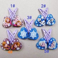 Wholesale Hairclip Hairpin - Frozen Series Hairclip Hairpin Hair Ornament Jewelry Baby Girls Hairclips Hairpins Barrettes Cartoon Animation Hair Accessories