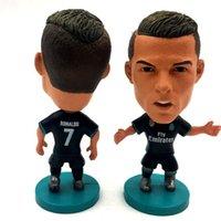 Wholesale Cm Club - Soccerwe Football Star Club 6.5 cm Height Resin Doll Player 2017-18 Season Souvenir Gift Modric Ronaldo Isco Benzema Kroos Puppets Black