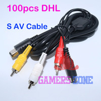 Cables Dc Av Baratos-Venta al por mayor, 100 piezas para Sega Dreamcast DC S-VIDEO AV Cable S TERMINAL