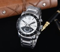 Wholesale Best Women Watches Color - All Subdials Work AAA Menes women Stainless Steel Quartz Wristwatches Stopwatch Luxury Watch Top Brand relogies for menes relojes Best Gift