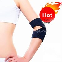 Wholesale Adjustable Heat Pad - New Arrival Black Neoprene Tennis Elbow Knee Support Adjustable Heat-sensing Dual Therapy Magnetic Pressure Point Health Care order<$18no tr
