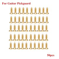 Wholesale Pickguard Gold - Gold Plating 3mm Screws for Electric Guitar Pickguard Scratch Plate Top Quality 50pcs