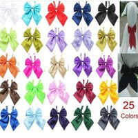 Wholesale Wholesale Dog Bows Solid Colors - 50pc lot Factory Sale Cute Pure Solid Colors Handmade Adjustable Dog Ties Pet Bow Ties Cat Neckties Dog Grooming Supplies PL51