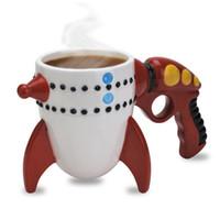 детские игрушки для мальчиков оптовых-Горячая продажа творческий Керамическая кружка Personlity большой рот игрушка ретро Ray Gun Rocket кружка кофейные чашки с розничной упаковке DHL бесплатная доставка