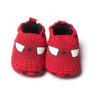 Wholesale Wholesale Spiderman Fabric - Wholesale 15pair Cartoon Spiderman Baby Boy Shoes Fashion Baby Shoe Anti-Slip First Walker 2016 Spring Autumn Newborn Prewalkers Baby Gift