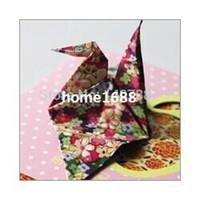 Wholesale Origami Crafts - 200PCS LOT vintage Origami Folding paper craft folding paper for kids