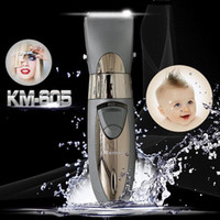 Wholesale Baby Silver Hair - Waterproof Design rechargeable beard hair trimmer Silver Color for men low noise hair cutter machine Electric baby Hair Clipper