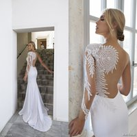 Wholesale Exquisite Rhinestone Bridal Gown - 2016 Riki Dalal Rhinestone Wedding Gowns White Mermaid Exquisite Pearls Beading One Sleeve Bridal Gowns Sweetheart Neckline Sweep Train