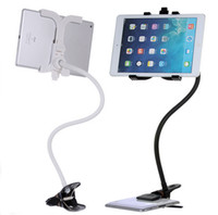 Wholesale Rotating Tv Stands - New 360 Rotating Bed Tablet PC Mount Holder Stand For iPad 2 3 4 5 Mini For iPad Air&tablet PC Black White Ipad Stand Adjustable