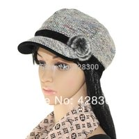 Wholesale Korean Cap For Lady - Wholesale-Hot Selling! New 2015 Antumn-Winter Korean Rabbit fur ball fashion knitted hats for Women Ladies Caps