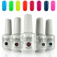 Wholesale Gelish Nails - 12pcs lot Harmony Gelish Nail Polish Soak Off Gelcolor Polish Colors LED UV Gel polish 256 Colors!